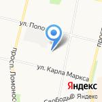 Глобус на карте Архангельска