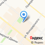 Дапринт на карте Архангельска
