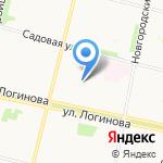 Отдел по делам несовершеннолетних Октябрьского округа на карте Архангельска