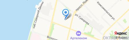 Федерация спортивного туризма Архангельской области на карте Архангельска
