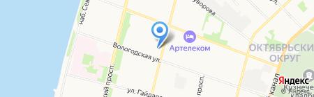 Аква-САНтехника на карте Архангельска