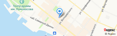 Европейская обувь на карте Архангельска