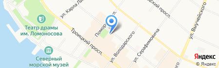 Орто на карте Архангельска