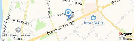 Архангел на карте Архангельска