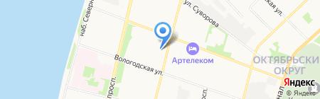 Лада на карте Архангельска