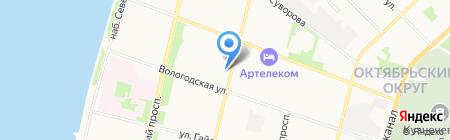 Компьютер сервис на карте Архангельска
