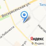 Архангельские электрические сети на карте Архангельска