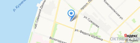 Штаб молодёжных трудовых отрядов Архангельской области на карте Архангельска
