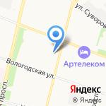 Норд на карте Архангельска