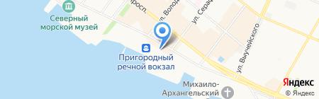 Гринвич Клуб на карте Архангельска