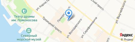 Детская школа народных ремесел на карте Архангельска