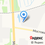 Соломбальские полуфабрикаты на карте Архангельска