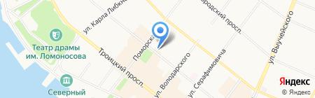 Северный Ветер на карте Архангельска