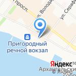 Окна Теплова на карте Архангельска