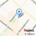 Кудель на карте Архангельска