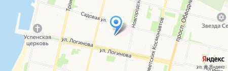 Бюро путешествий Кругозор на карте Архангельска