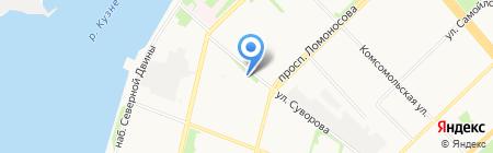 Троицкий дом на карте Архангельска