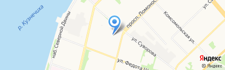 Fisher на карте Архангельска