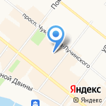 Заратустра на карте Архангельска