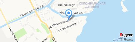 Соломбальская на карте Архангельска
