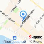 Корея на карте Архангельска