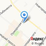 Жар-птица на карте Архангельска