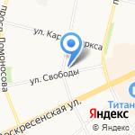 Нуга-Бест на карте Архангельска