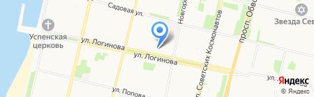 Уютное небо на карте Архангельска