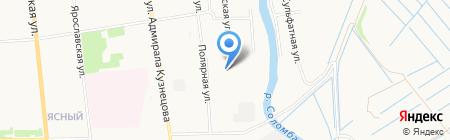 Иста на карте Архангельска