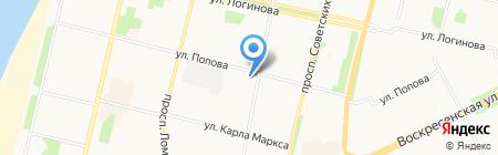 Бристоль на карте Архангельска