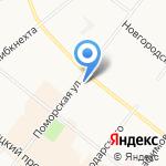 Оптики Севера на карте Архангельска