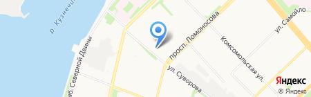 ОЛМИ на карте Архангельска