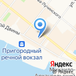 Subway на карте Архангельска