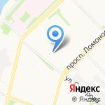 Суворовский на карте Архангельска