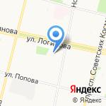 Магазин канцелярских товаров на карте Архангельска