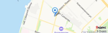 Приморская центральная районная больница на карте Архангельска