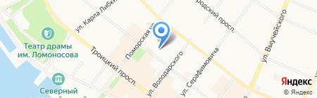 Открытая сменная общеобразовательная школа на карте Архангельска