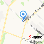 Хлебница на карте Архангельска