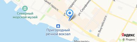 Московский Ювелирный Завод на карте Архангельска
