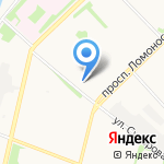 Мировые судьи г. Архангельска на карте Архангельска