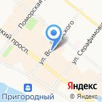 Буран на карте Архангельска