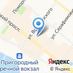 Downtown на карте Архангельска