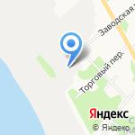 Лесозавод №25 на карте Архангельска
