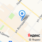 Сакура на карте Архангельска