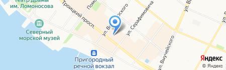 Идеал на карте Архангельска