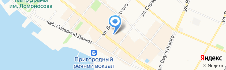 Нюша на карте Архангельска