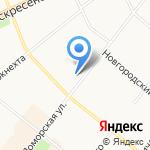Кабинет массажа на карте Архангельска
