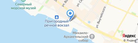Двинарегионводхоз ФГБУ на карте Архангельска