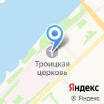 Свято-Троицкий храм на карте Архангельска