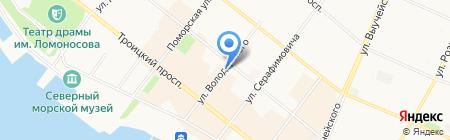 Архангельский литературный музей на карте Архангельска